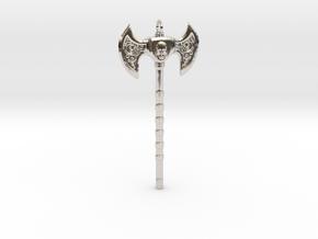 Warrior Skull Necklace in Platinum