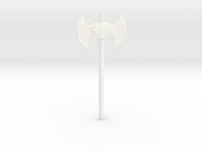 Warrior Skull Necklace in White Processed Versatile Plastic