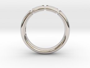 Enigmatic ring_Size 8 in Rhodium Plated Brass