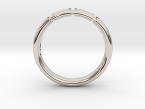 Enigmatic ring_Size 12 in Rhodium Plated Brass