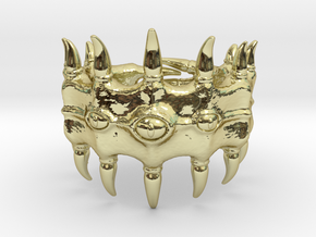 Devourer of Fingers in 18k Gold Plated Brass