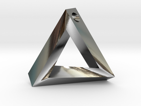 Impossible Triangle Pendant in Polished Silver