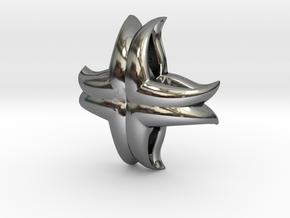 V Charm 3 Small in Premium Silver