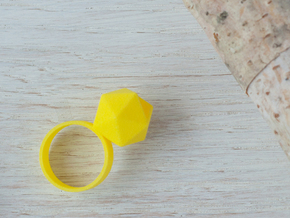 Icosahedron Planter Ring, Size 6 in Yellow Strong & Flexible Polished: 6 / 51.5