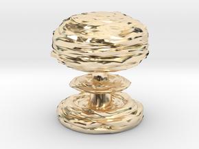 Mushroom Cloud in 14k Gold Plated Brass