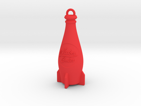 Nuka Cola Bottle Keychain in Red Strong & Flexible Polished