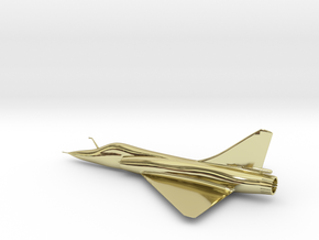 Dassault Mirage 2000 gold 100mm in 18k Gold Plated Brass