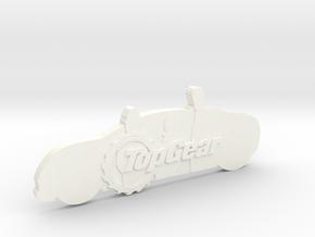 TopGear Crew Silhouette  in White Processed Versatile Plastic