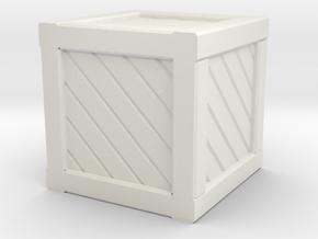 Small Crate in White Natural Versatile Plastic