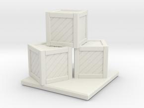 Crate Stack in White Natural Versatile Plastic