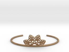 Half Mandala Cuff - small in Polished Brass