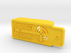 Device Holder 9-4-15.SLDPRT in Yellow Processed Versatile Plastic