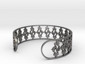 Julia Set Bracelet 7in (18cm) in Polished Nickel Steel