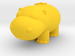 Hippo (Nikoss'Animals) in Yellow Processed Versatile Plastic