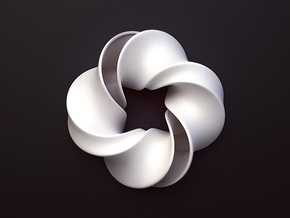 Mobious in White Strong & Flexible Polished