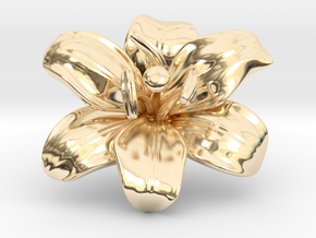 Lily Flower 1 - M in 14K Yellow Gold