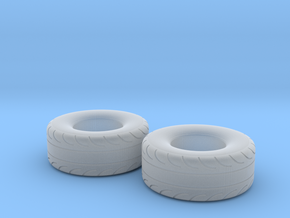 1/32 Scale Pair Of 325 70 15 MT Slicks in Smooth Fine Detail Plastic