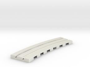 P-9stx-short-9in-curve-1a in White Natural Versatile Plastic