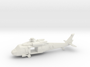 10mm (1/144) UH-60M (main Doors Open) in White Strong & Flexible