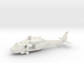 UH-60M (main,front Doors Open, W Crew) in White Strong & Flexible