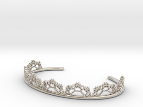 Open Lace Cuff - small in Rhodium Plated Brass