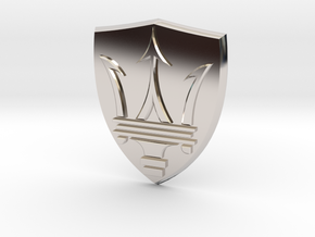 Maserati in Rhodium Plated Brass
