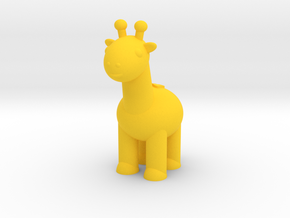 Giraffe (Nikoss'Animals) in Yellow Processed Versatile Plastic