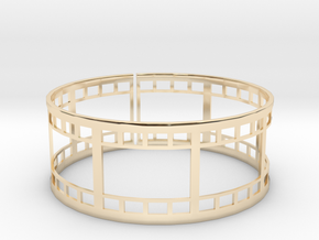 Film Strip Ring in 14K Yellow Gold