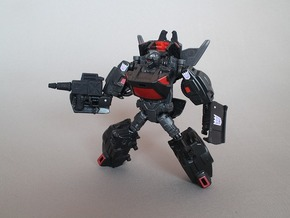 TAV Runabout CW Rodimus Wing hold and Weapon Parts in Black Strong & Flexible