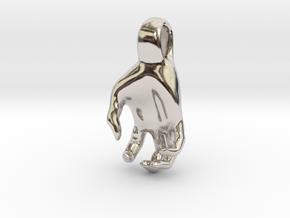 Luke's Hand (pendant) in Rhodium Plated Brass