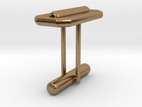 Cufflink Style 15 in Natural Brass