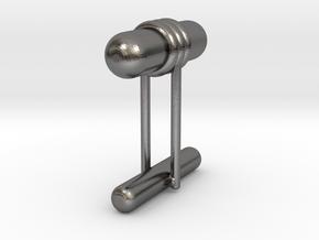 Cufflink Style 11 in Polished Nickel Steel