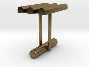 Cufflink Style 10 in Polished Bronze