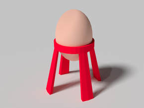 LaUNCH-PAD Egg Holder in White Natural Versatile Plastic