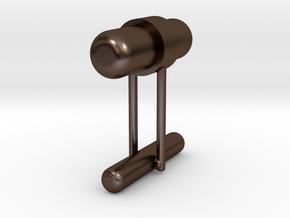 Cufflink Style 8 in Polished Bronze Steel
