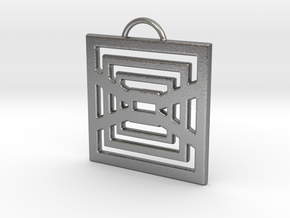 Endlessly Square Pendant in Raw Silver