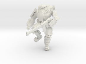 Combat Walker, 15mm Scale, Unbased in White Natural Versatile Plastic