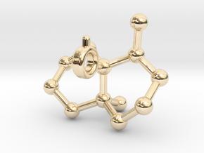 Geosmin in 14k Gold Plated Brass