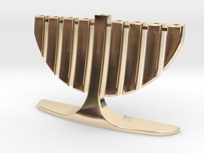 menorah test in 14K Yellow Gold