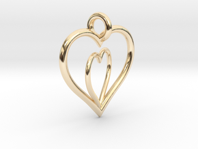Love Hearts in 14K Yellow Gold