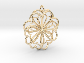Hearts Flower in 14K Yellow Gold