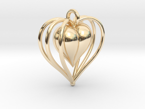 Hearts Cage in 14K Yellow Gold