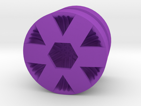 HEX_1814CS - LEGO-compatible Custom Rims in Purple Strong & Flexible Polished