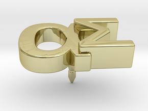 Aspie Symbol Lapel/Tie Pin in 18k Gold Plated Brass