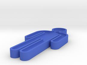 washroom key 100% scale in Blue Processed Versatile Plastic