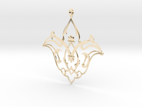 CODE: SL27Z4 - PENDANT in 14k Gold Plated Brass