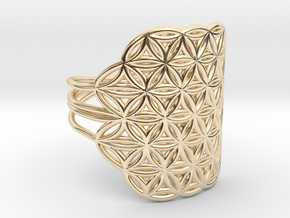 FLOWER OF LIFE Ring Nº32 in 14K Yellow Gold