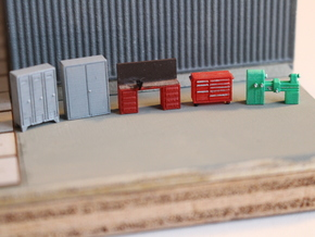N Scale Workshop Interior Details in Smooth Fine Detail Plastic