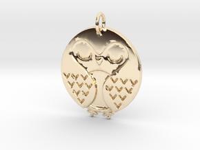 Sleeping Bird in 14k Gold Plated Brass