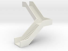 N Station Stairs H40 90° Left in White Natural Versatile Plastic
